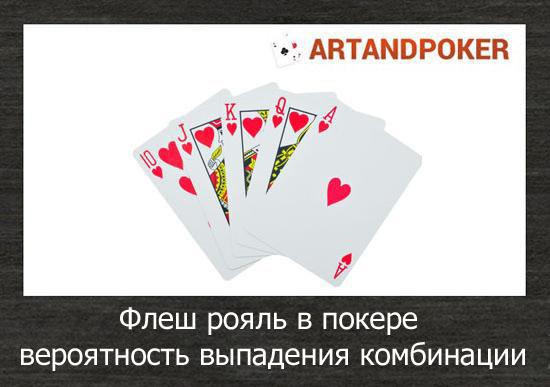 флеш рояль в покере: вероятность выпадения комбинации