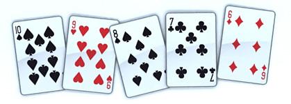 Стрит - покер комбинация старшая карта 10