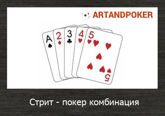 Стрит - покер комбинация