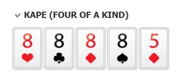 Каре комбинации покера по старшинству