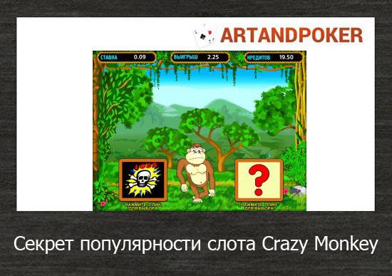Секрет популярности слота Crazy Monkey