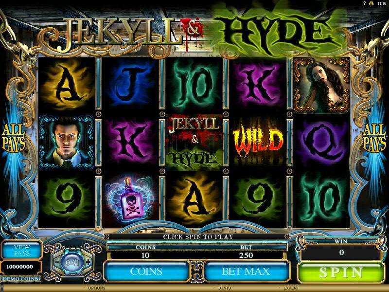 символы автомат Джекилл и Хайд